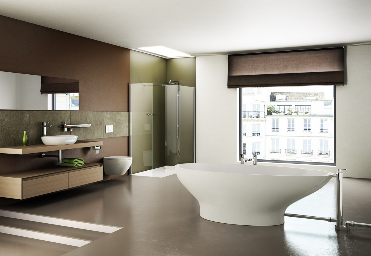 Clearwater acryl for Contemporary bathroom designs 2012